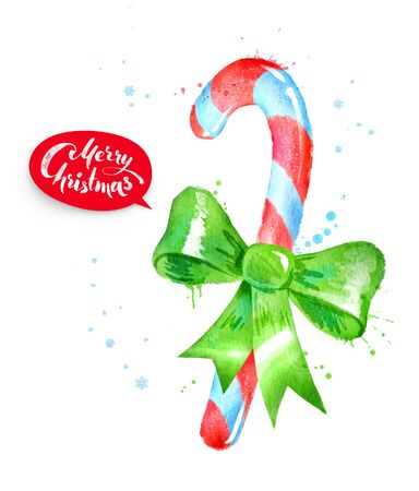 illustration of Christmas candy cane Stock Photo