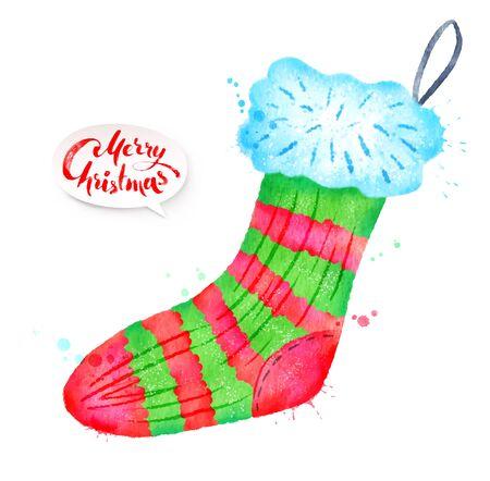 Vector illustration of Christmas sock Illustration