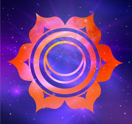 illustration of Svadhisthana chakra