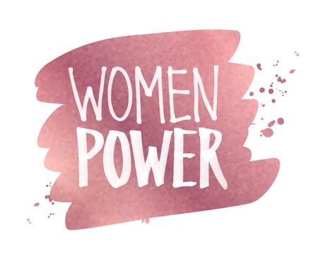 Women Power slogan lettering Illustration