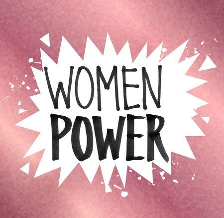 Woman Power felt tip pen lettering
