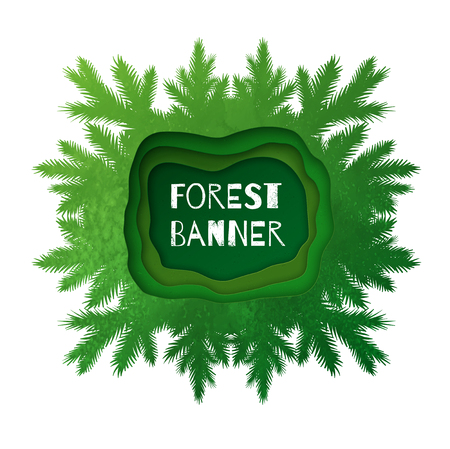 illustration of kaleidoscope forest frame