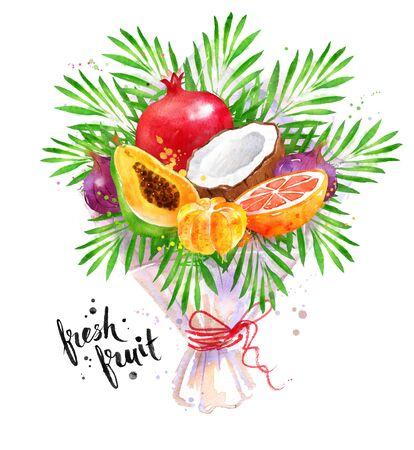 fresh tropical fruit Bouquet