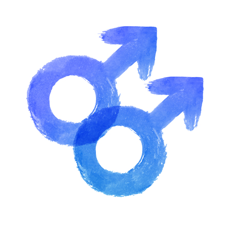 Vector illustration of male gender symbol