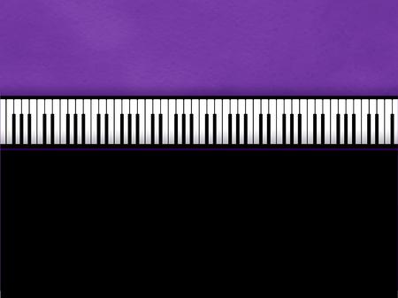 Vector illustration of Piano keys on violet grunge background.