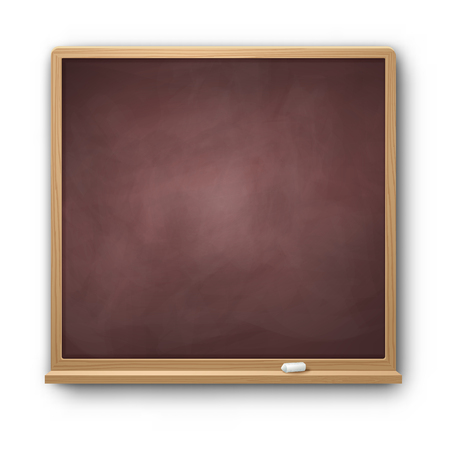 Vector illustration of brown square chalkboard