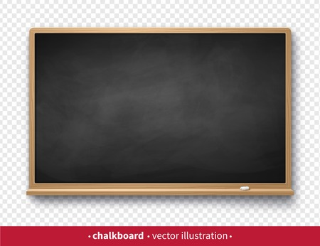 illustration of chalkboard with with piece of chalk