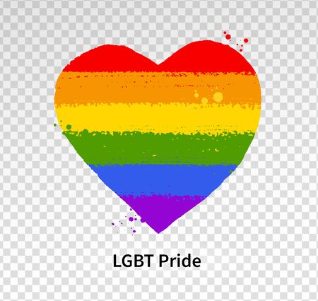 Heart in rainbow LGBT flag colors Illustration