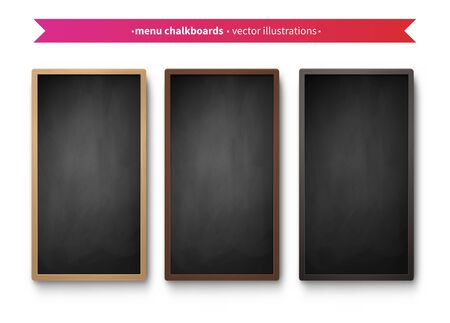 Vector collection of vertical menu boards