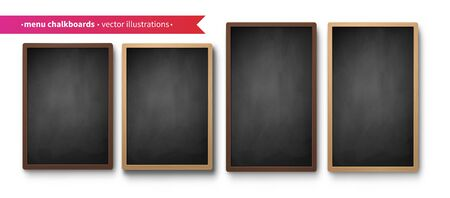 Vector collection of menu boards Ilustrace