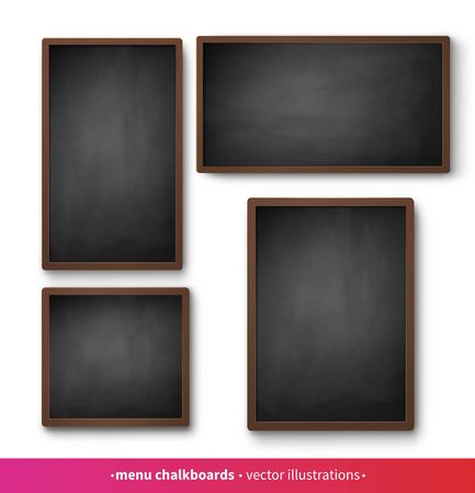 Isolated menu boards with black frames Ilustrace