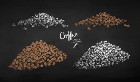 Illustration collection of coffee beans
