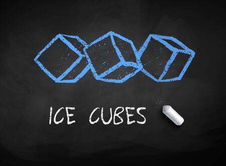 Chalk drawn ice cubes