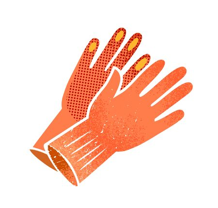 Gardening gloves vector illustration Ilustrace