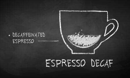Chalk drawn sketch of Espresso Decaf coffee