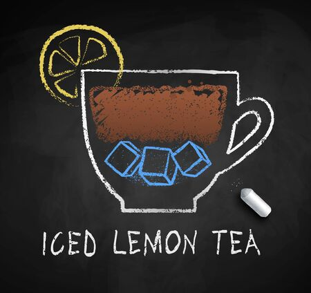 Vector sketch of Iced Lemon Black Tea