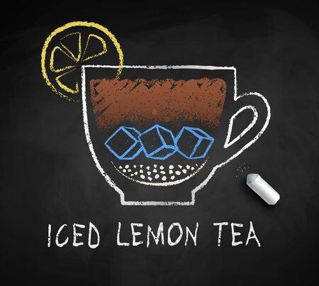 Vector sketch of Iced Lemon Tea