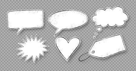 Grunge hand drawn speech bubbles Stok Fotoğraf - 137879104