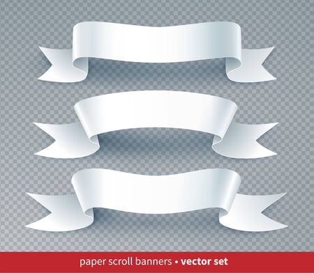 Paper cut style ribbon banners