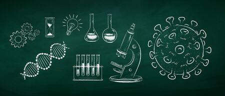 Vector set of Coronavirus research concept