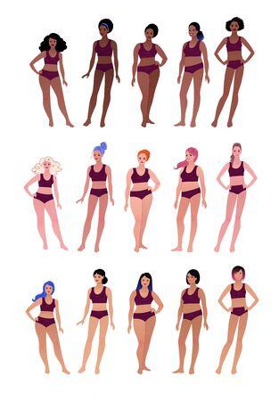 Body positive multiethnic female character