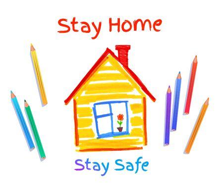 Stay Safe concept vector illustration