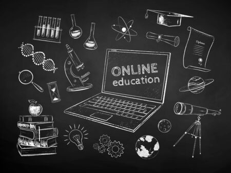 Set of online education items