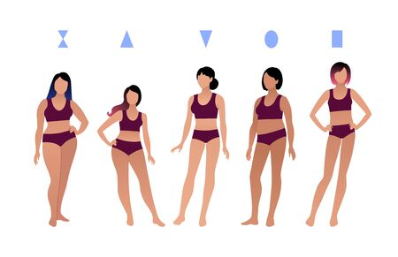 Female body types characters