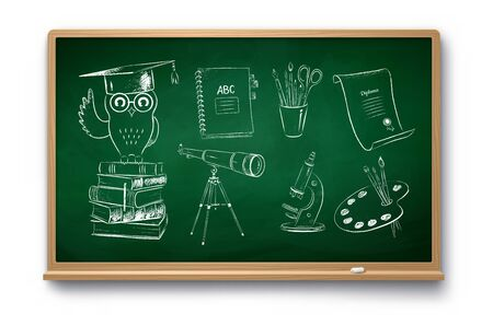 Illustration set of education symbol objects Иллюстрация