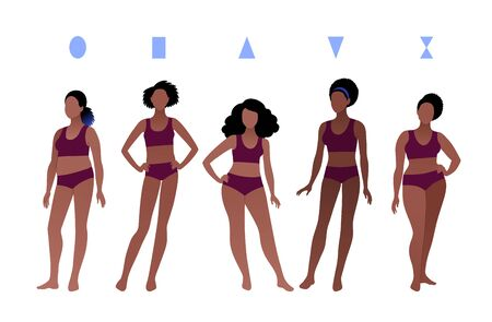 Vector collection of female body types Stock Illustratie