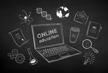 Collection of online education items