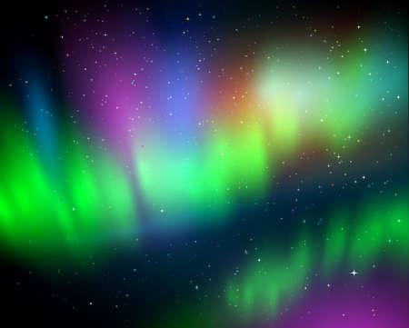 Vector illustration of northern lights
