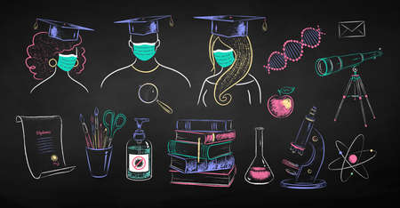 Education chalk drawings collection