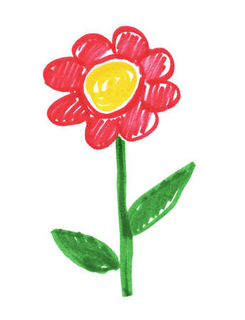 Child drawing of flower