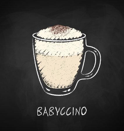 Babyccino cup chalk illustration.