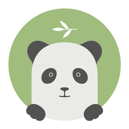 panda bear: Animal set. Portrait in flat graphics. Panda