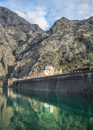 balkan peninsula: The sea gate of Kotor, Montenegro, the Balkan peninsula Stock Photo