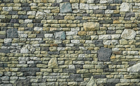 Rustic multicolor stone wall texture
