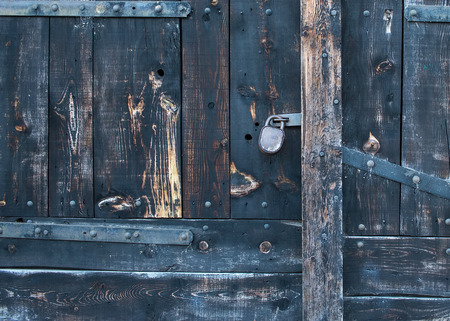faded: Old rustic faded wood gate texture Stock Photo