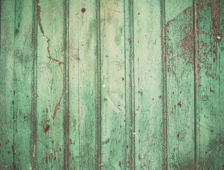wood fences: Old rustic painted cracky green turqouise wooden texture or background
