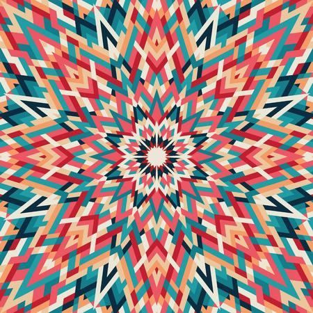 만화경 기하학적 인 화려한 패턴입니다. 추상적 인 배경입니다. 벡터 일러스트 레이 션