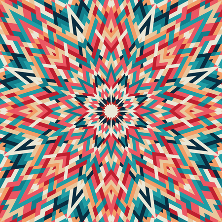 Kaleidoscope geometric colorful pattern. Abstract background. Vector illustration