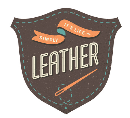 leather label: Leather label for creative design project. Illustration