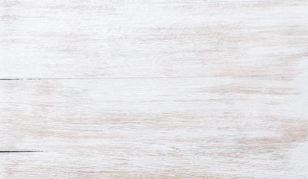 오래 된 threadbare 흰색 페인트 나무 질감, 벽지 및 배경