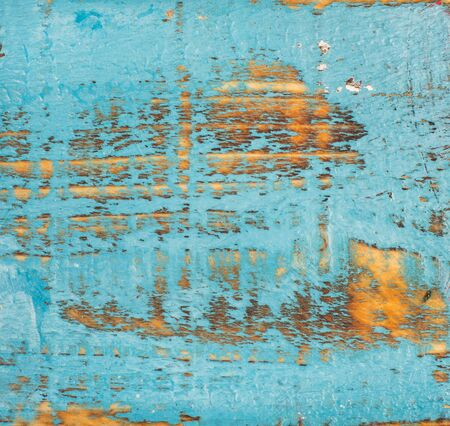 Blue painted old rustic shabby wood texture and background
