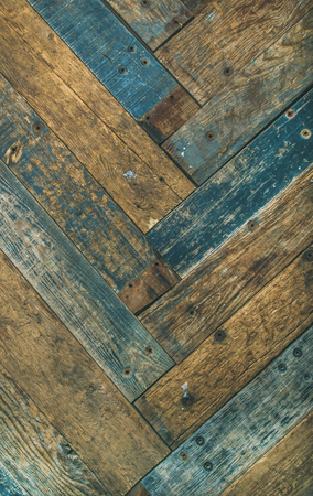 Reclaimes rustic wooden barn door, wall or table texture, background and wall, vertical composition Stock Photo