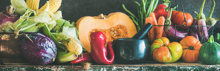Assortment of vegetables for healthy cooking