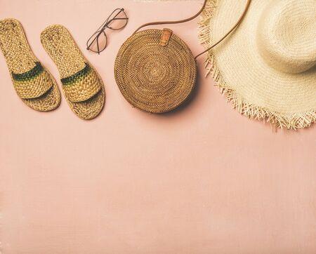 Summer apparel items. Stock Photo