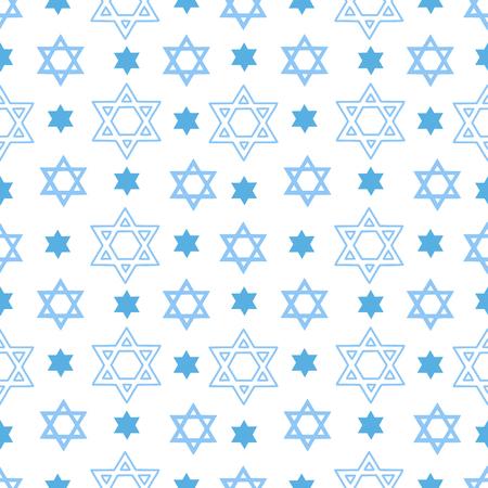 Patrón transparente de vector con la estrella de David. Fondo para el diseño de carteles, tarjetas, folletos, para la fiesta de Shavuot