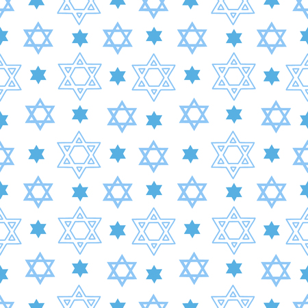 Vector seamless pattern with the Star of David. Background for the design of posters, cards, flyers, for the holiday of Shavuot